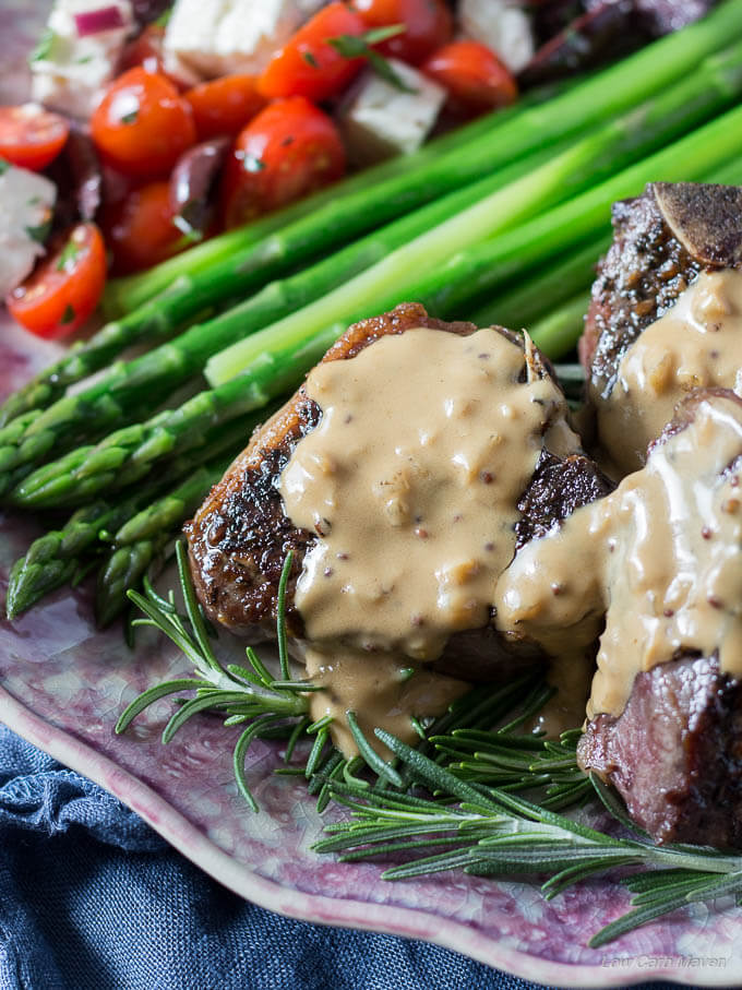 Easy Pan-Seared Lamb Chops with Mustard Cream