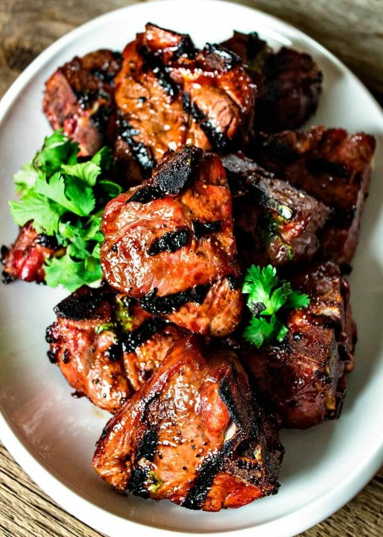 Grilled Hoisin Lamb Loin Chops