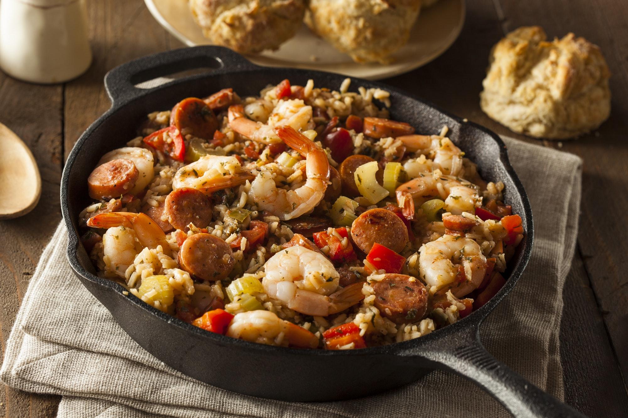 Spicy Homemade Cajun Jambalaya continental breakfasts