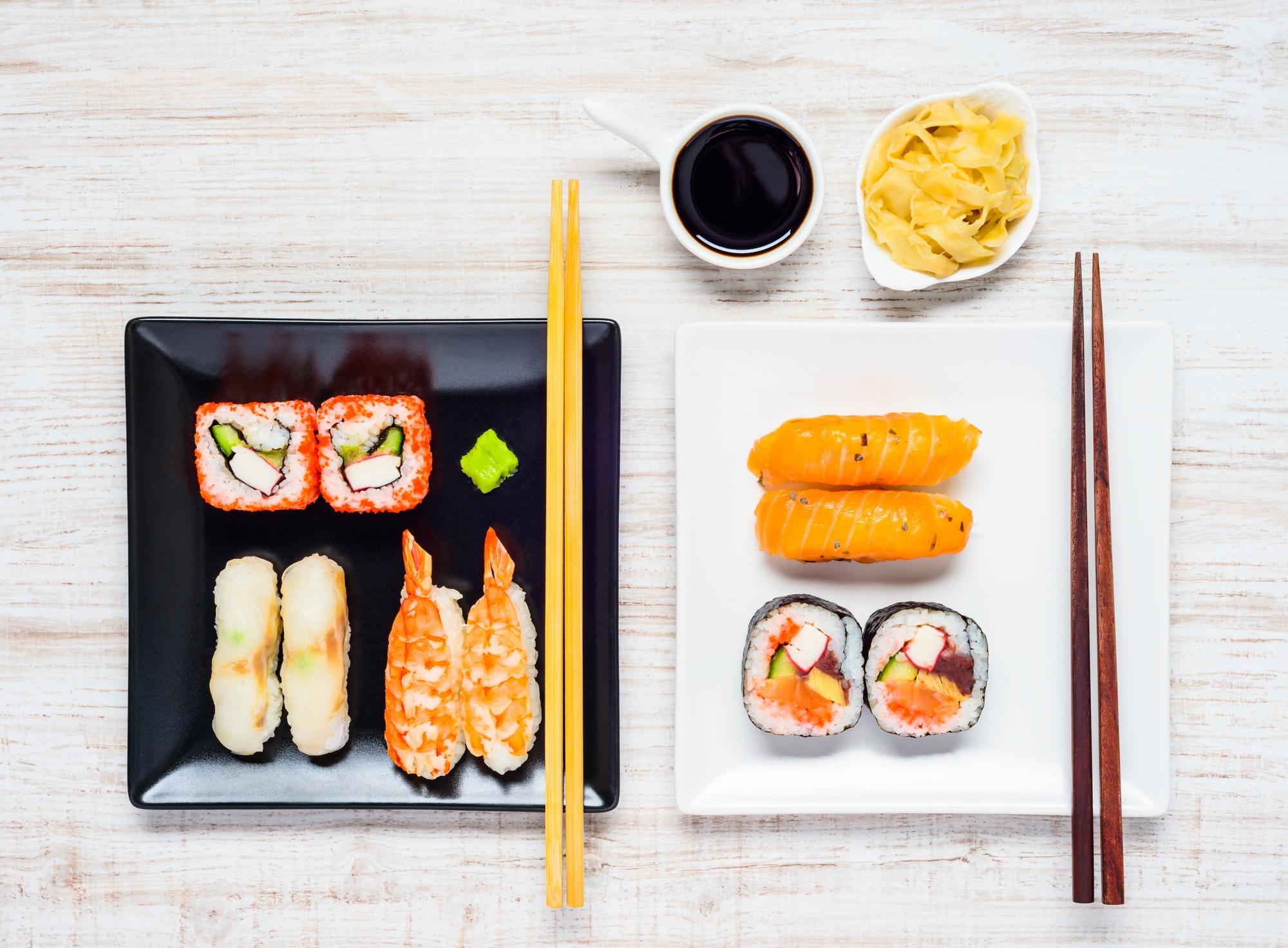 using tamari sauce with sushi