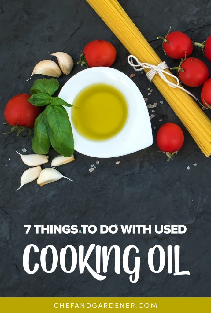 a list of things you can do with used cooking oil